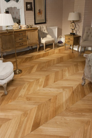 Coswick Engineering Hardwood Flooring - Chevron Collection