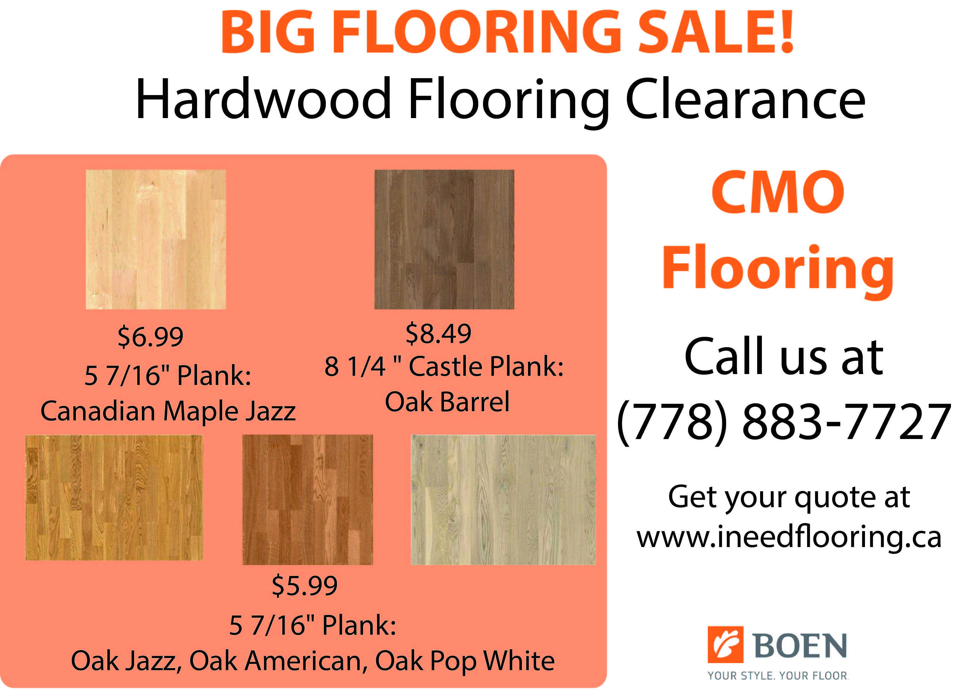 boen-hardwood-flooring-promotion-clearance-sale-canadian-maple-jazz-plank-castle-oak-barrel-oak-jazz, american, oak pop white-CMO-Floors-Vancouver